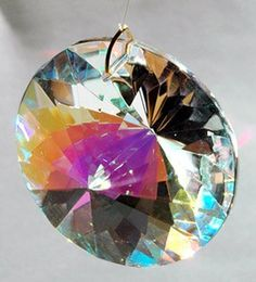 40mm Aurora Borealis Crystal Prism SunCatcher by Peep. $12.99. Measures over 1-1/2 inches, equal to 40mm. Made of lead free crystal with optical clarity and Aurora Borealis coating for extreme Rainbows. Comes to you ready to hang as a suncatcher in a sunny window for some great light shows.. A brilliant 40mm window prism Suncatcher pendant you can use for Feng Shui. A brilliant 40mm window prism Suncatcher pendant you can use for Feng Shui. Comes to you ready to han...