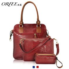 Orfee women's crocodile pattern handbag picture package messenger bag 12851 $41.77