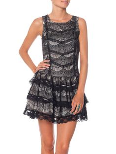 Pretty lace dress. Lovely Lace S/L Mini Dress from Vero Moda