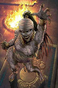 GFT Van Helsing Vs The Mummy Of Amun Ra 5 (Cover D Metcalf) from Zenescope Entertainment - written by Joe Brusha. Comic book hits store shelves on May 17, 2017