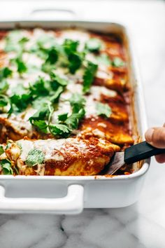 Chicken Quinoa Enchiladas