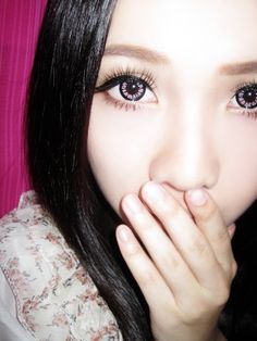 Pink Color, Color Pop, Charming Eyes, Popteen, Circle Lenses, Magic Circle, Colored Contacts, False Lashes, New Look