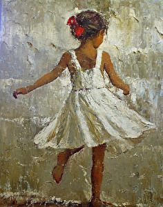 TWIRLING by JOYCE NORWOOD Oil ~ 48 x 36