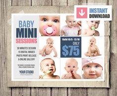 Baby Photography Marketing board  PSD by StudioTwentyNine on Etsy, $6.00