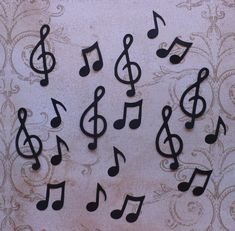 Sizzix Shapes Music Notes / Treble Clef Shapes / Die Cuts
