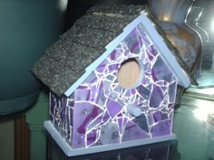 Amethyst Dream Shattered Mosaic Glass by GlassByPriscilla on Etsy