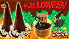 RECETAS para HALLOWEEN * 3 ideas DULCES de halloween con CHOCOLATE