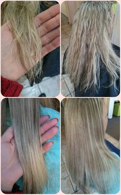 Olaplex treatment Olaplex Before And After, Hair Tricks, Blonde Color, Dry Hair, Love Hair, Cosmetology, Hair Colors, Hair Goals, Hair Inspiration