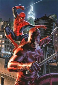 O Espetacular Homem Aranha & O Demolidor Unidos por Alex Ross.