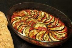 Ratatouille --- easy, and yummy. Be sure to slice the eggplant as this as you possibly can or else it gets rubbery and not as yummy as it could be.
