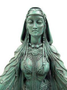 Celtic Goddesses | Celtic Goddess Danu Statue - Flowing Mother of Abundance