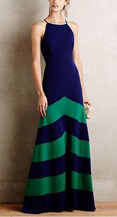 chevron gown