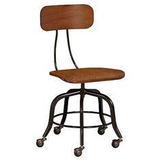 Vintage Wood Swivel Chair #pbteen