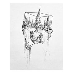 Awesome landscape by Michael Lindberg blackworknow if you would like to be fe Carola is part of Stippling art - business inquires blackworknow Cool Drawings, Tattoo Drawings, Body Art Tattoos, Small Tattoos, Stylo Art, Natur Tattoos, Stippling Art, Unusual Tattoo, Landscape Tattoo