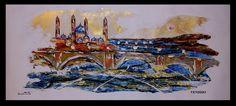 He realizado tres nuevos cuadros sobre el Pilar de Zaragoza #arte #Zaragoza #Aragon #cultura #España