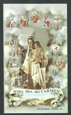 santino Madonna del Carmine estampa  image pieuse holy card FOR SALE • EUR 2,50 • See Photos! Money Back Guarantee. santino de la Madonna 371833993011