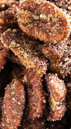 Sweet & Spicy Sugared Pecans - Just a Little Bit of Bacon Appetizer Recipes, Snack Recipes, Snacks, Appetizers, Spicy Pecans Recipe, Sugared Pecans, Savory Salads, Small Desserts, Pecan Recipes