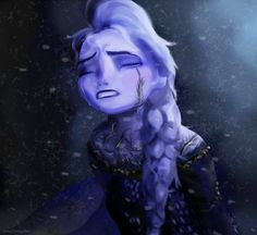 Elsa fighting the Evil...or, even better, the fear?<<<< I know I sound like a horrible person, but I'm really happy right now.