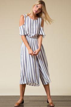 Daybreak linen Culotte Jumpsuit