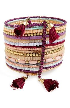 BP. Beaded Multi-Strand Tassel Cuff available at #Nordstrom