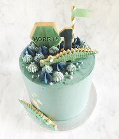 Dinosaur Birthday Cakes, Dinosaur Cake, First Birthday Parties, 2nd Birthday, First Birthdays, Cupcake Cakes, Cupcakes, Cake Kids, Jungle Party