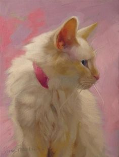 """Daily Paintworks - """"Pretty on Pink when neutrals have lots of color"""" - Original Fine Art for Sale - © Diane Hoeptner"""