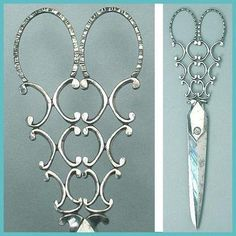 Magnificent Antique English Cut Steel Embroidery Scissors * Circa 1850 ...