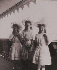 Olga, Tatiana and Maria on the Standart, 1908
