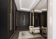 Nu Projects are a luxury full-service Fulham based design & build construction company created for the now. Luxury Interior Design, Interior Architecture, Interior Decorating, Vestibule, Modern Closet, Wardrobe Design, Luxury Wardrobe, Foyer Design, Commercial Interiors
