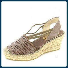 Vidorreta Keilsandalette Größe 39, Farbe: braun - Sandalen für frauen (*Partner-Link)