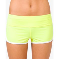 Athletic Dolphin Shorts ($7.99) ❤ liked on Polyvore featuring shorts, activewear and forever 21