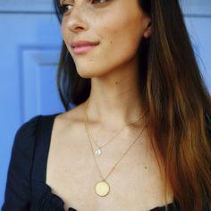 Fleur Necklace Gold Pendant, Make You Smile, Solid Gold, Diamond Cuts, Gold Necklace, Gems, Pendants, Chain, Stone