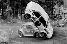 Per Eklund (here pictured in raced the ex-Jochi Kleint VW Motorsport 1978 ERC Golf in Rallycross events of the early Vw Motorsport, Vw Racing, Car Volkswagen, Rally Car, Getting Out, Beetle, Hot Rods, Race Cars, Monster Trucks