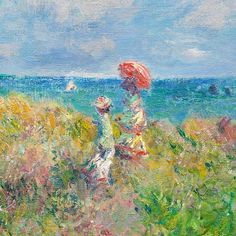 Cliff Walk at Pourville (detail) by Claude Monet