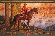 """Mountie in Red Serge""   by Arnold Friberg"