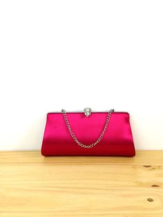 Vintage Hot Pink Clutch / Small Clutch Purse / by VintageEdition