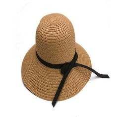 58c2ad4c 2015 Fashion Seaside Sun Visor Hat Female Summer Sun Hats For Women large  Brimmed Straw Sun Hat Folding Beach Girls Wholesale