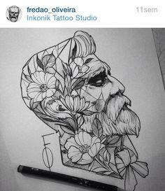 Fredao Oliveira tattoo // I really like this are style!