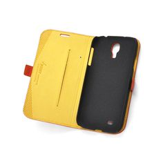 Custom Made Premium Genuine Leather Side Flip Leather Wallet Case for Samsung Galaxy S4
