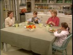 Table Manners 101 video with Martha Stewart- this is perfect for the AHG Tenderheart Social Skills & Etiquette badge!