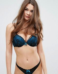 Ann Summers Darcy Double Boost Bra A - DD Cup - Blue