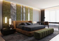 Carol's flat on Behance Bedroom False Ceiling Design, Room Design Bedroom, Modern Bedroom, Bedroom Decor, Bedroom Bed, Bed Room, Room Interior, Interior Design, Round Beds