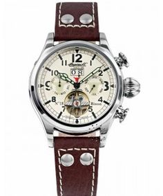 INGERSOLL Automatic Bison No 18 Brown Leather Strap IN4506WHGR Ingersoll Watches, Bison, Brown Leather, Accessories, Tan Leather, Brown Skin, Jewelry Accessories