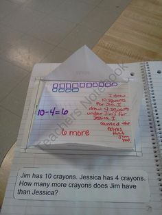 free math notebook foldables
