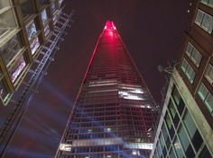 SHARD: Laser Show, London  Spectators turned out in their hundreds to witness the light show that marked the climax o...