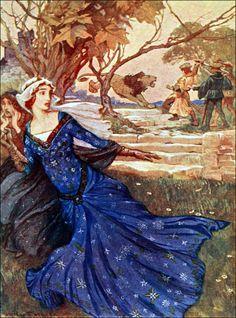 Art by Arthur Rackham (1910) from STORIES OF KING ARTHUR.