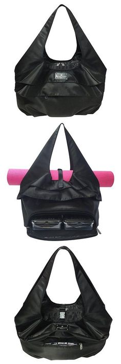 Gym Bags 68816 6 Pack Fitness Asana Yoga Tote Stealth Black With Removable Meal Core