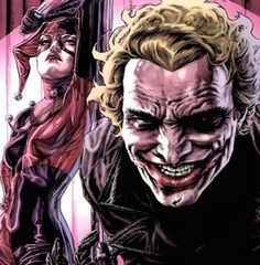 Joker and Harley Quinn by Mick Gray and Lee Bermejo Batman The Dark Knight, Batman And Superman, Batman Art, Joker Art, Comic Book Characters, Comic Character, Comic Books Art, Book Art, Marvel Characters