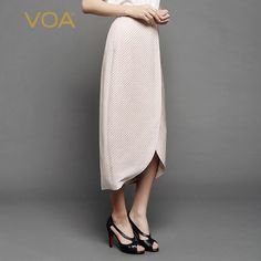 Find More Skirts Information about VOA beige jacquard silk novelty bud skirts split mid calf skirt C7038,High Quality mid calf skirt,China calf skirt Suppliers, Cheap skirt split from VOA Flagship Shop on Aliexpress.com