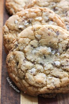 Coconut Chocolate Chunk Cookies with Sea Salt. #recipes #foodporn #desserts #cookies #chocolate
